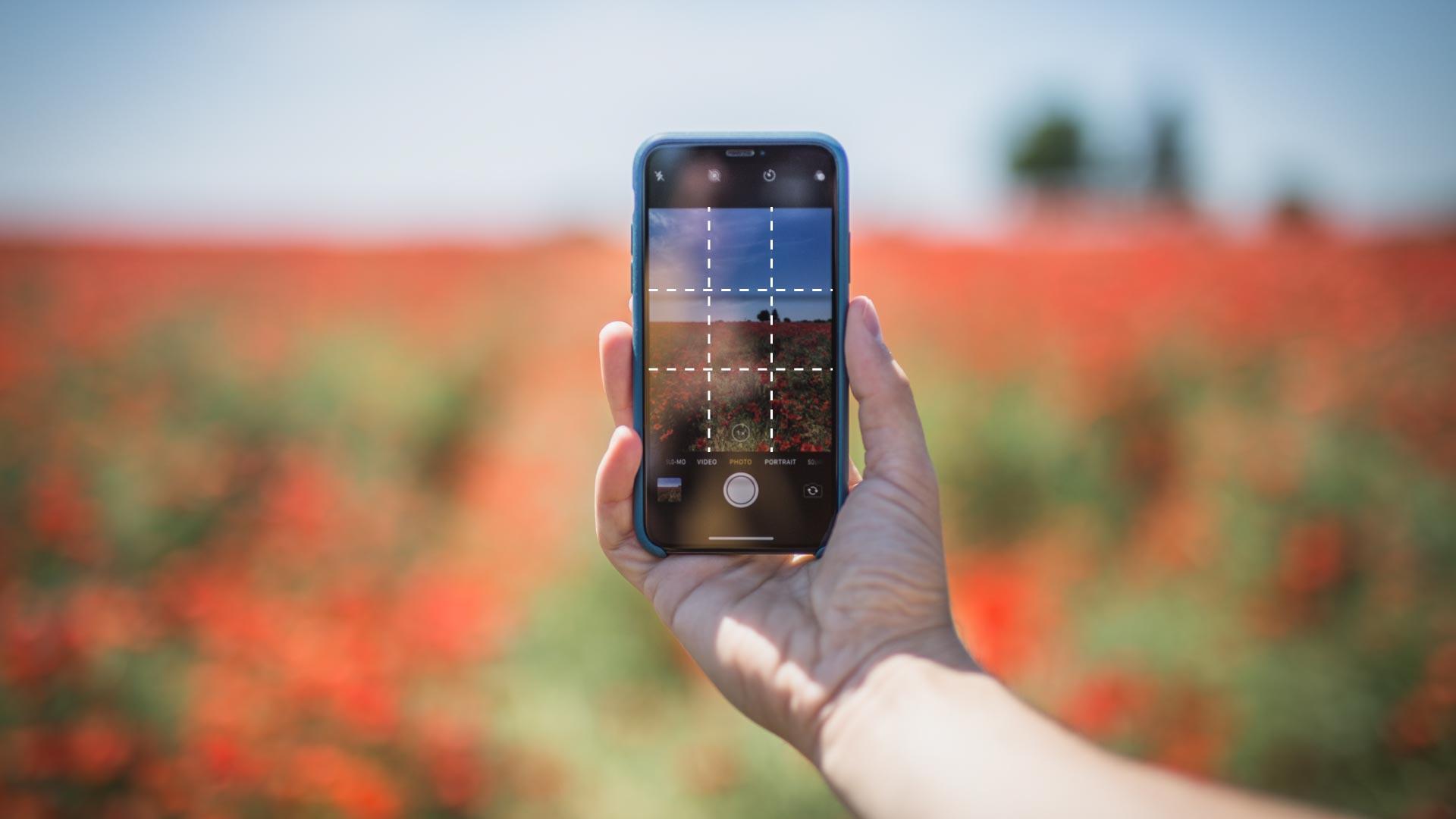 Scattare foto con la griglia nell'app fotocamera del tuo smartphone