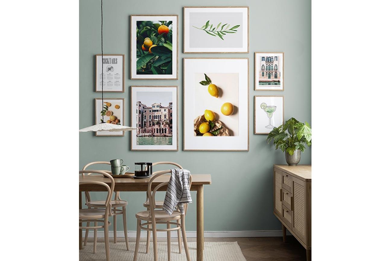 Gallery wall - Composizione cornici e poster desenio.it