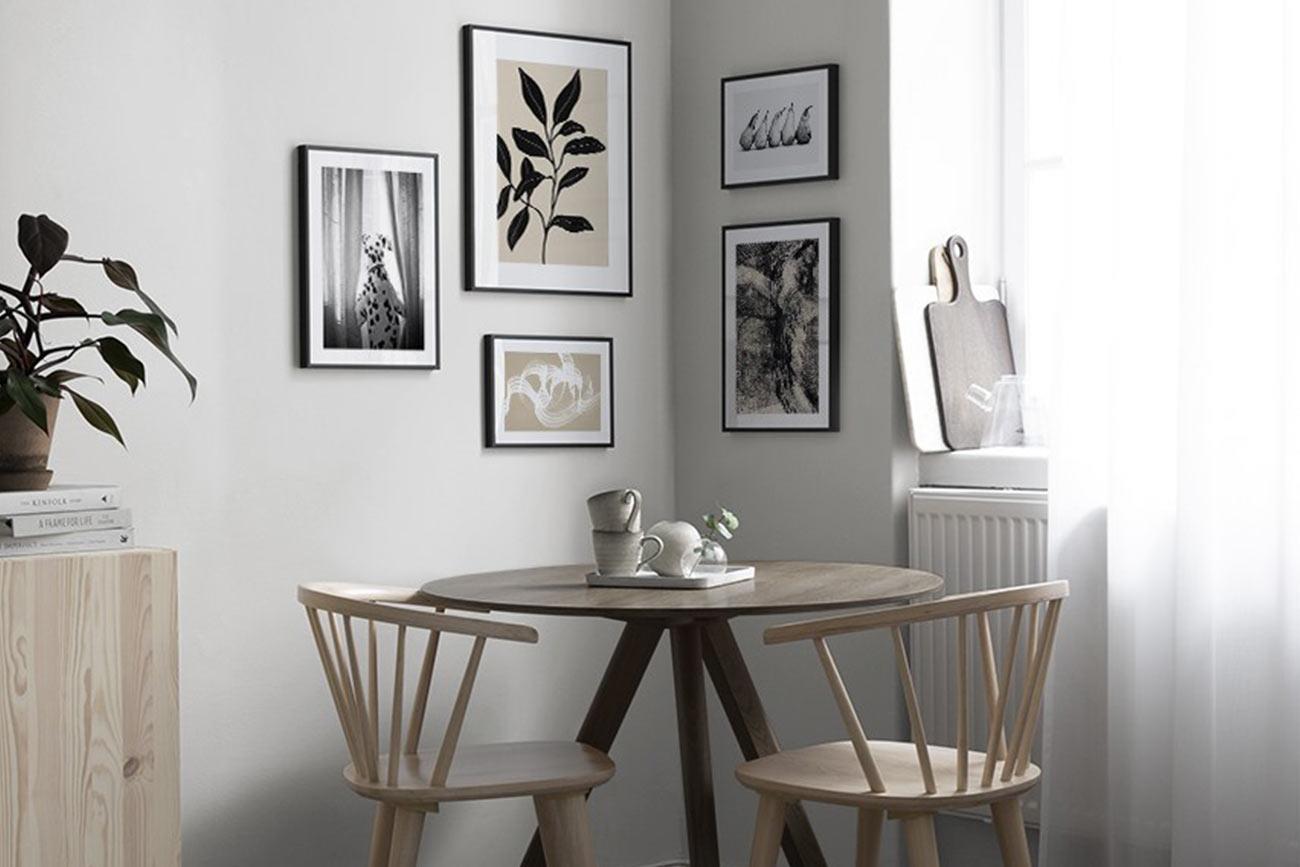 Composizione poster Desenio in cucina