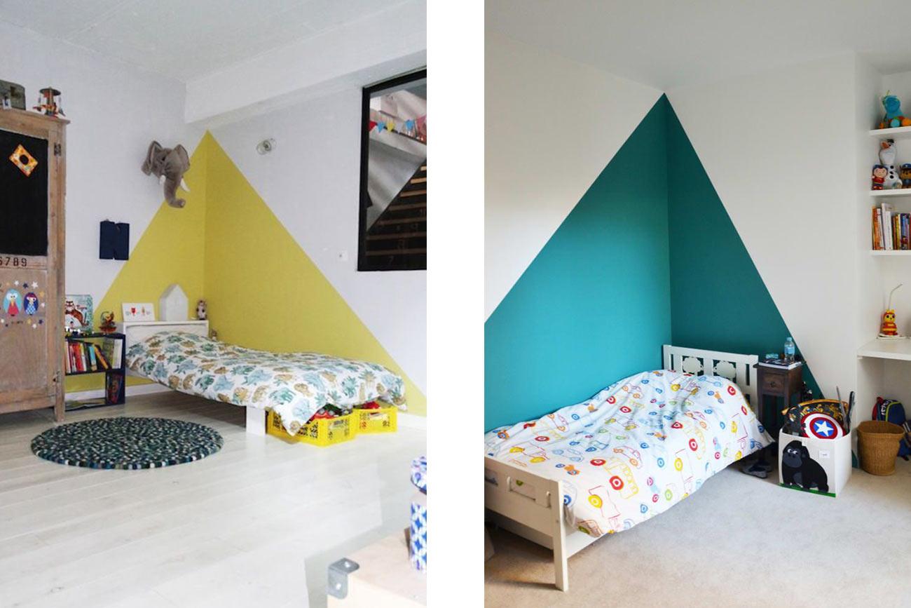 Color Blocking - Dipingere angolo letto camerette bimbi