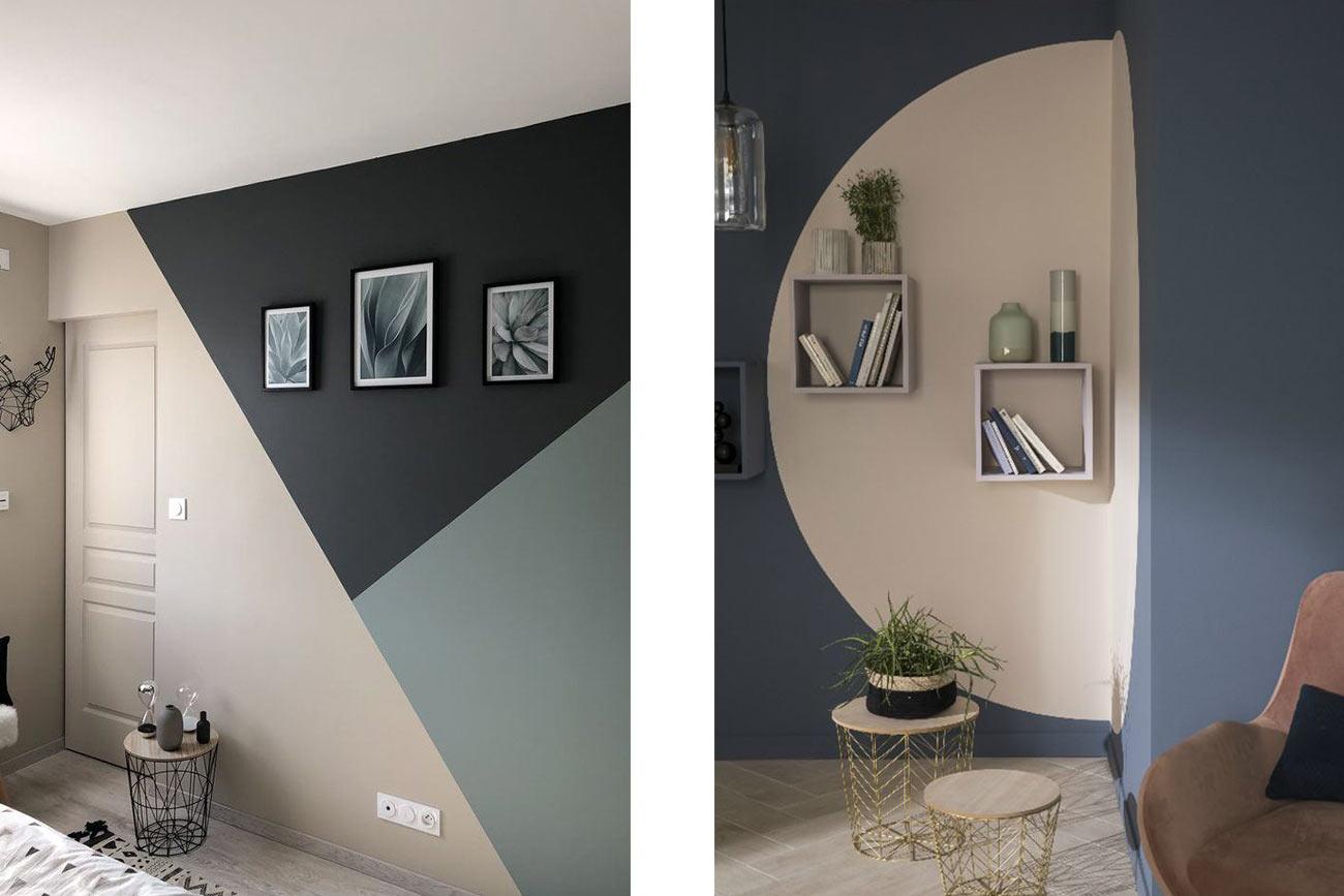 Color blocking e disegni geometrici - stile minimal